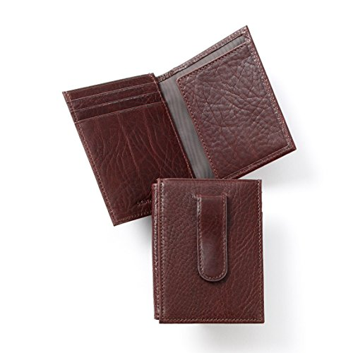 Leatherology Men's Money Clip Card Holder Wallet with ID ...