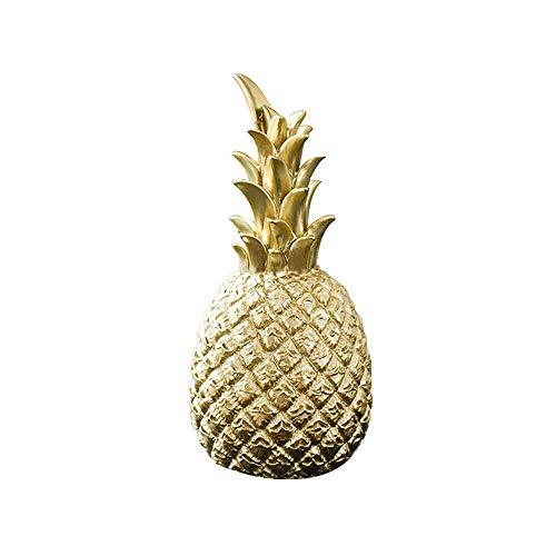 Happy nest 9x9x20cm Medium Artificial Pineapple Fruit Ornament Fake Pineapple Golden