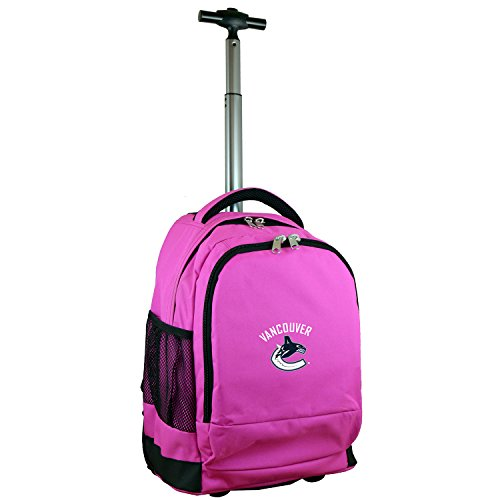 Denco NHL Vancouver Canucks Expedition Wheeled Backpack, 19-inches, Pink