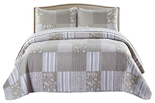 SLPR Silent Reverie 2-Piece Lightweight Printed Quilt Set (Twin) | with 1 Sham Pre-Washed All-Season Machine Washable Bedspread Coverlet