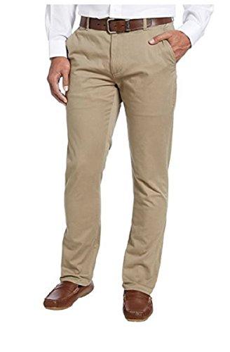 Kirkland Signature Men's Flat Front Tailored Fit Straight Leg Soft Chino Pant (38X34, Dark (Soft Chino)