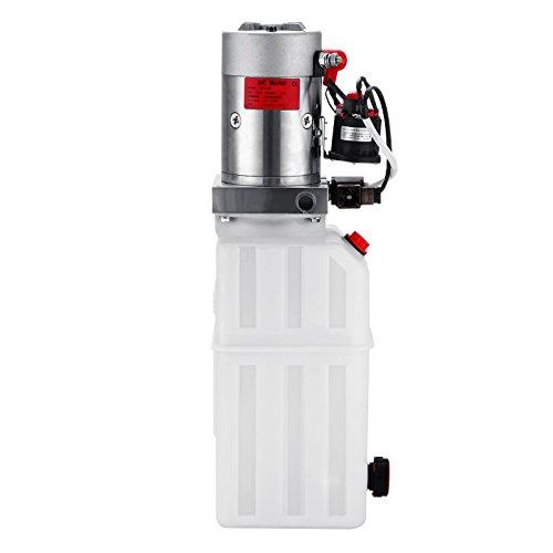 Happybuy Hydraulic Pump 12V DC Single Acting Hydraulic Power Unit 8 Quart Plastic Tank Hydraulic Pump Power Unit for Dump Trailer Car Lifting (8 Quart Single Acting Plastic) by Happybuy (Image #3)