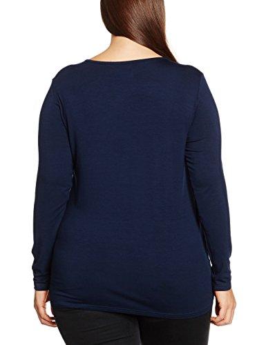 Zizzi, Camiseta para Mujer Blau (Night Sky 1496)