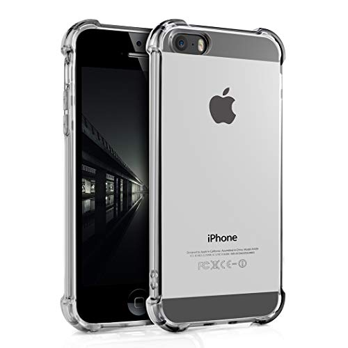 Phone case for 5/5S/SE, Slim Fit Premium Hybrid Shock Absorbing & Scratch Resistant TPU Bumper Clear Case Cover for Apple iPhone 5,iPhone 5S, iPhone SE.al3
