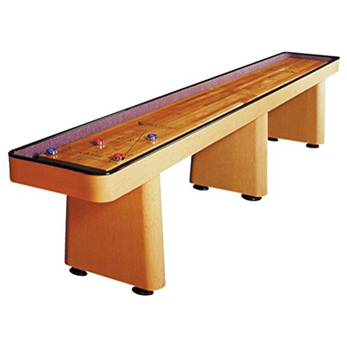 Challenger Shuffleboard Table – Gaming Board with Playing Accessories – Gameroom Furniture – Wood Game Table - 14' & Fusion ()