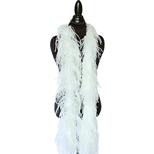 - 2ply Ostrich Feather Boas, Over 20 Colors to Pick Up … (Cream Yellow)