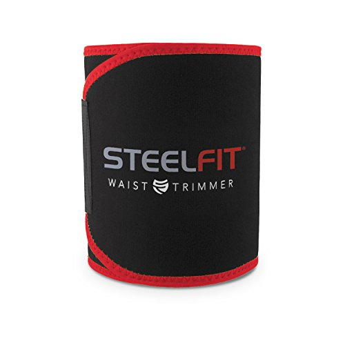 SteelFit Waist Trimmer - Increase Circulation, Sweat More, and Maximum Fat Burning Capabilities - One Adjustable Size - For Men and Women