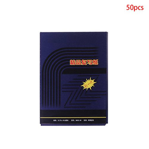 Yangxiyan 50 Sheets Double Sided Carbon Copier Stencil Transfer Paper (32K)