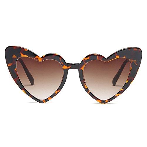 de corazón de para Gafas corazón para forma en sol vintage Gafas juqilu para fiesta el C4 mujer Gafas 7x8Hnqz