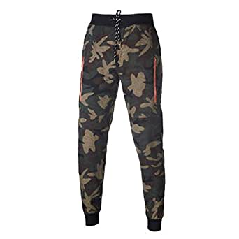 Otoño e Inviern Pantalones De Camuflaje Militar Chándal para ...