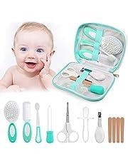 LinStyle Set para Cuidado del Bebé, 8 Piezas Kit de Aseo para Bebés, Kit Cuidado Higiénico Personal para el Hogar y de Viaje, Ideal para Recién Nacido, Niña y Niño
