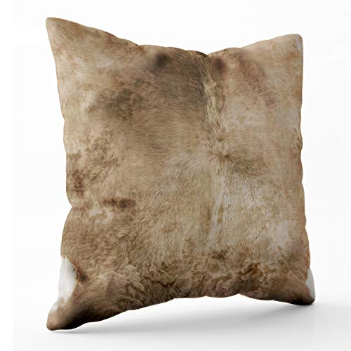 - Shorping Zippered Pillow Covers Pillowcases 20X20 Inch Christmas Home Fur Leather Look Animal Skin Prints Western Decorative Throw Pillow Cover,Pillow Cases Cushion Cover for Home Sofa Bedding