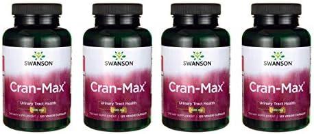Swanson Cran-Max 500 mg 120 Veg Caps 4 Pack