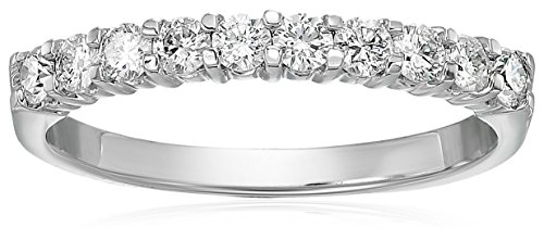 AGS Certified SI2-I1 1/2 ctw Diamond Wedding Band 14K White Gold Size 6