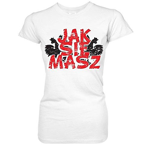 Funny Borat T-shirt (Jak Sie Masz -How Are You Polish Borat Kazakhstan Juniors T-Shirt (XL White))