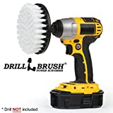 Softer Bristle Scrub Brush 5' Round with Power Drill Attachment