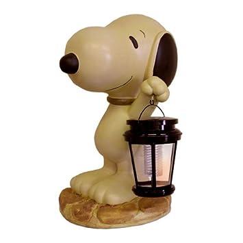 Delightful Snoopy Solar Powered Garden Light: Reading