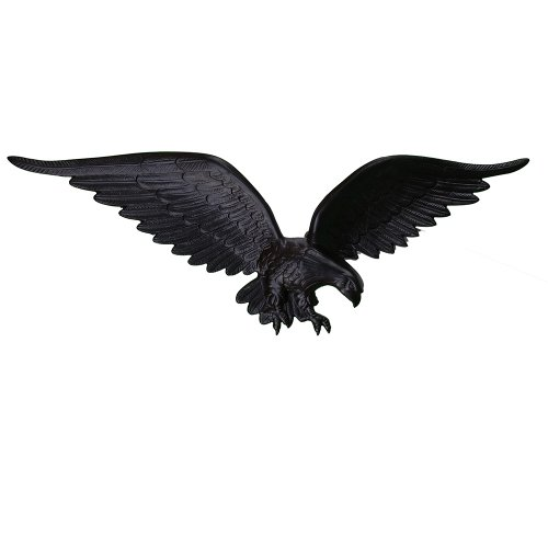 Montague Metal Products Flagpole Wall Eagle, 24-Inch, Black