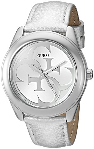 GUESS-Womens-Quartz-Stainless-Steel-and-Leather-Casual-Watch-ColorSilver-Toned-Model-U0895L4