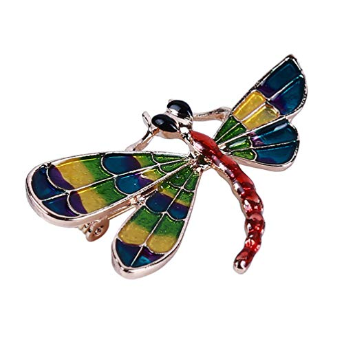 LANWF Sparrow Brooch Dragonfly Brooch Fashion Cute Animal Badge Pins Suit Scarf Shawl Clip Decoration Jewelry Accessories Unisex,Dragonfly ()