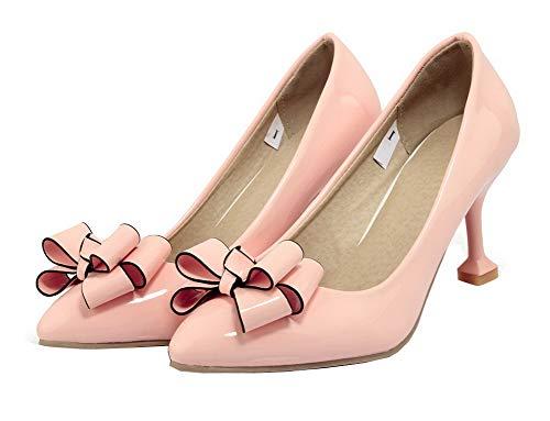 a vernice rosa verniciata punta alto pelle tacco in tsmdh004542 Scarpe a con tacco punta con in AxZ0Onqt4w
