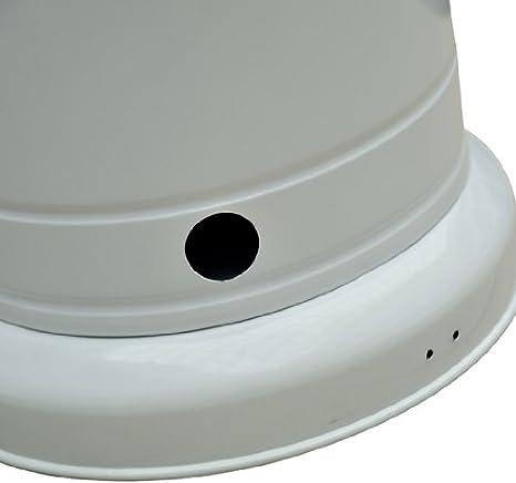 Calentador Estufa Exterior 12KW Terraza Gas Butano Tipo Seta Acero Inox + Cubierta: Amazon.es: Hogar