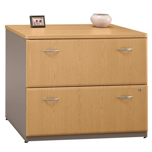 Two Drawer Lateral File, Beech/Slate Gray, - Sold as 1 ()