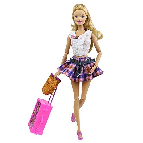 ZITA ELEMENT Ensemble Voyage Vacances V/êtements Avec Sacs de Bagages Pour Kelly /& Barbie Poup/ée