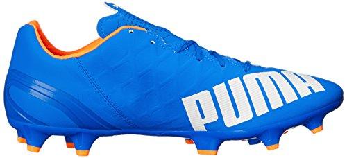 Puma Mens Evospeed 4.4fg Scarpa Da Calcio Blu Elettrico Limonata / Bianco / Arancio Pesce Pagliaccio