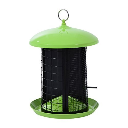 Hanging Bird Feeder Outdoor Food Container 3 Section For Different Seed Type With Ebook