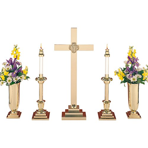 Christian Brands Church Supply SB150-30SET 30 in. Altar Cross & IHS Set by Christian Brands Church Supply