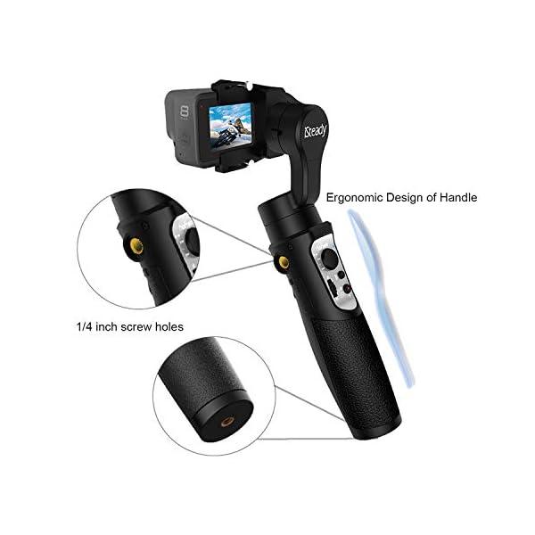 Hohem iSteady Pro 3 Action Camera Gimbal Stabilizzatore cardanico palmare Gimbal 3 assi IPX4 antispruzzo compatibile con GoPro Hero 8/7/6/5/4/3, DJI OSMO Action, Insta360 one R, SONY RX0 5 spesavip