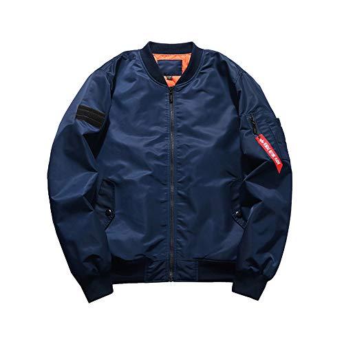 Mince Grande Jacket Jeunesse Bleu Coton Taille Col Montant Foncé Mens S Sunny Épaissir qtwxn8Fw1