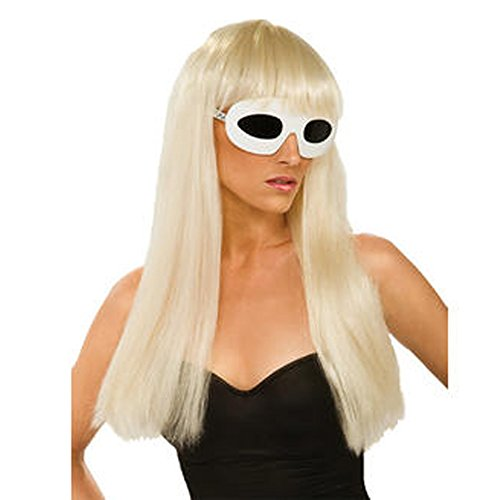 Lady Gaga Straight Hair Wig With Bangs,Blonde,One Size]()