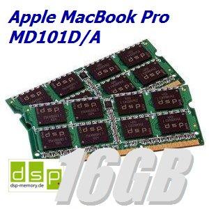 16GB Speicher / RAM für Apple MacBook Pro MD101D/A (Set aus 2 Modulen)
