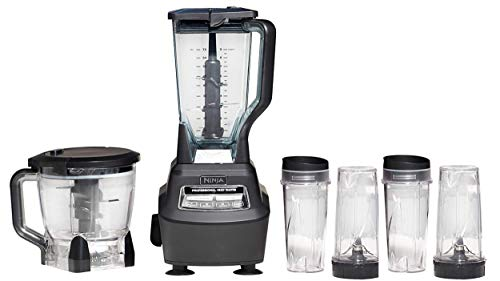 Mega Kitchen System (BL770) Blender/Food Processor with 1500W Auto-iQ Base, 72oz Pitcher, 64oz Processor Bowl, (4) 16oz Cup for Smoothies, Dough & More by Ninja (Image #1)