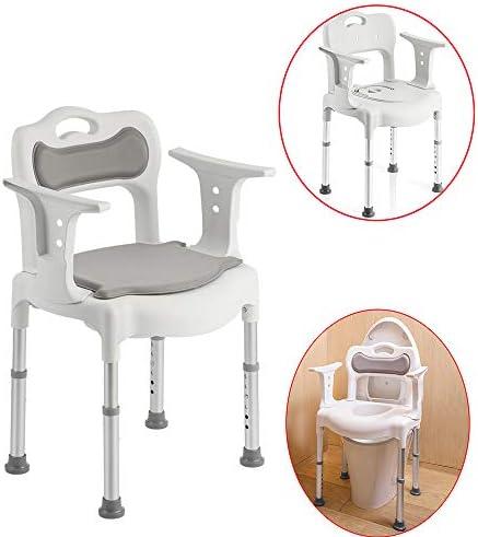 HXLQ 高齢者のトイレ椅子、携帯トイレの椅子、折りたたみ式トイレスツールシャワーチェア、隠しトイレ、高齢者、妊婦、運動障害のある人に適しています