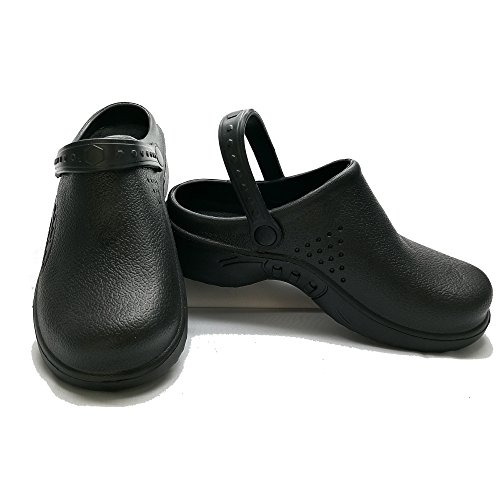 Water Clog Jeanish Black Scrubs Clog Stain Nursing and Work Lightweight Shoes Women Strap Nurse Shoes 319 Comfortable Resistant zzdxrq7wT