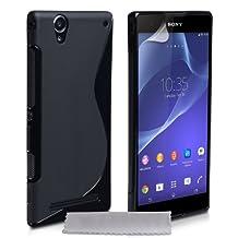 Caseflex Sony Xperia T2 Ultra Case Black Silicone S-Line Cover