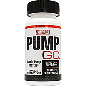 Labrada PUMP GC Nitric Oxide Booster & Muscle Pump Supplement with GlycoCarn L Carnitine, 63 Capsules