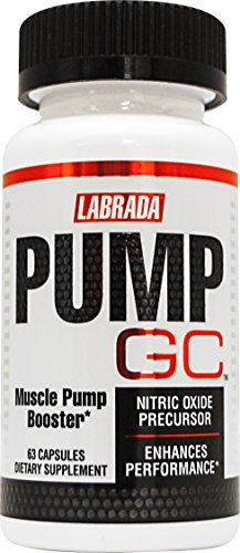 Labrada PUMP GC Nitric Oxide Booster & Muscle Pump Supplement with GlycoCarn L Carnitine, 60 Capsules