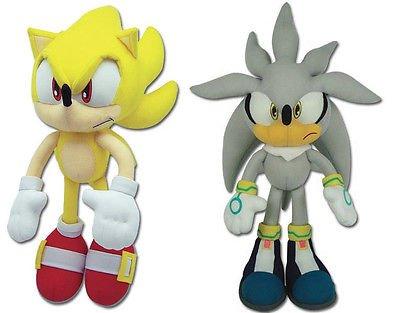 Great Eastern Sonic the Hedgehog Plush Set of 2 - Super Sonic (8958) & Silver (8960) by Sonic The Hedgehog