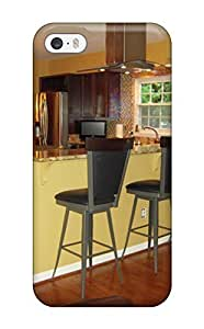 Anti-scratch And Shatterproof Kitchen Counter With Bar Stools Separate Living Room From Cooking Area Phone Case For iphone 4s/ High Quality pc Case