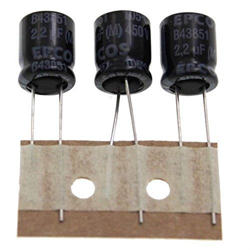 20x Chimique Condensateur rad 2,2/µF 450V 105/°C ; B43851A5225M8 ; 2,2uF