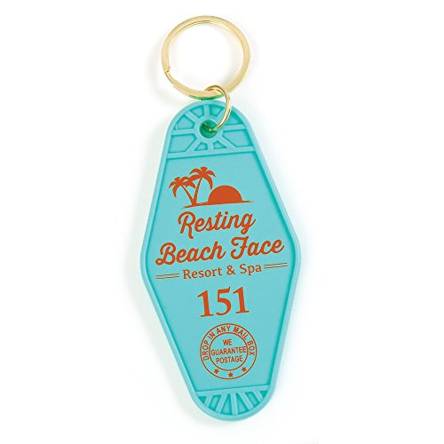 GAMAGO Resting Beach Face Keychain - Vintage Keychain