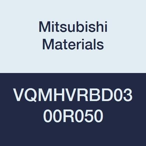 Corner Radius Shape Irregular Helix Flutes 0.5 mm Corner Radius 3 mm Cut Dia 4 Flutes 8 mm LOC Mitsubishi Materials VQMHVRBD0300R050 VQMHVRB Series Carbide Smart Miracle End Mill Medium Flute