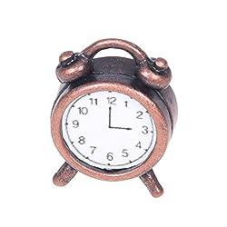 Dollhouse Alarm - TOOGOO(R)1/12 Dollhouse Miniature Living Metal Alarm Clock