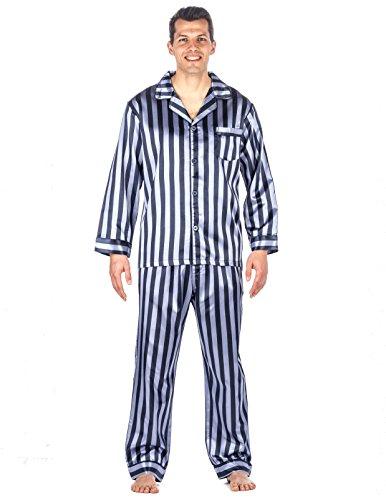 Noble Mount Mens Premium Satin Pajama Sleepwear Set