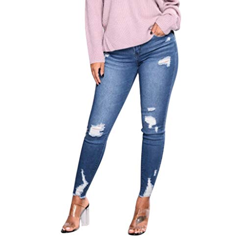 Xturfuo Women's Ripped Jeans Distressed Slim Fit Ripped Jeans Comfy Stretch Skinny Jeans