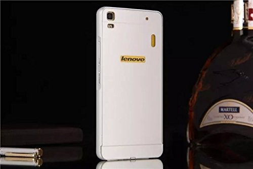 lowest price dc294 05f1a Lenovo A7000 case, Ziaon Aluminum Metal Bumper Frame Case with Acrylic Back  Cover for Lenovo A7000 - Silver - Free Screen Guard